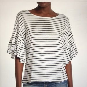 Nordstrom 14th & Union Gathered Bell Sleeve Tee